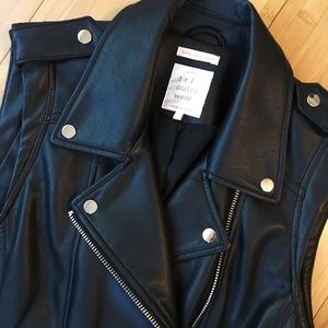 Zara Faux Leather Vest